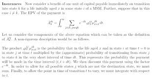 Actuarial Science Are These Expressions For The Epv Of A Benefit