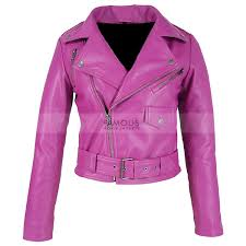 jessica alba hot pink leather jacket