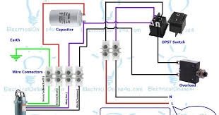 single phase 3 wire submersible pump wiring diagram electrical single phase 3 wire submersible pump wiring diagram electrical tutorials