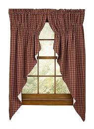 Park Designs Curtains And Valances Sturbridge Star Embroidered Point Valance Black Classic