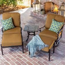 comfortable patio chairs aluminum chair: lakeview outdoor designs evangeline  person cast aluminum patio deep seating set bronze
