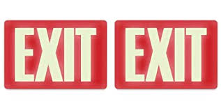 Amazon.com : Headline Sign 4792 Glow-in-the-Dark Exit Sign, 8 Inches ...