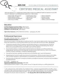 Medical Assistant Example Resume Medical Assistant Resume Example