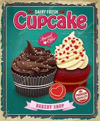 Cupcake Poster Design Vintage Cupcake Poster Design Vintage Cupcake Cupcakes
