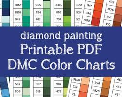 Dmc Color Chart 2018 Printable Dmc Color Card Etsy