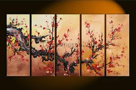 abstract plum blossom oil painting framed ior 016