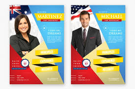 Free Election Campaign Flyer Template Campaign Poster Template Free Simple Template Design