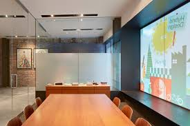creative office space large. A Large Bay Window Visually Enhances Space Inside The Conference Room Creative Office
