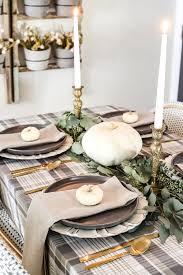 Neutral Low-Key Thanksgiving Tablescape - Bless\u0027er House