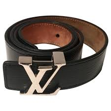 louis vuitton lv chrome logo epi leather