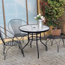 32 patio tempered glass steel frame