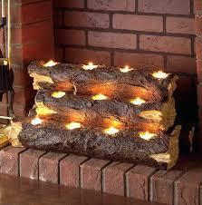 multiple candle holder log candle holder for fireplace multi votive candle holder