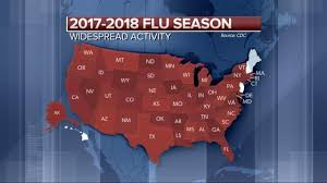 'Widespread' flu activity reported in 46 states - YouTube