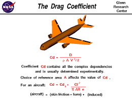 drag coefficient equals drag divided by the density times the