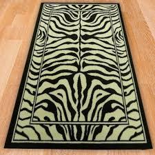range 59 black ivory zebra style rug