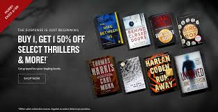 it s thriller week one get one 50 off get gripped by
