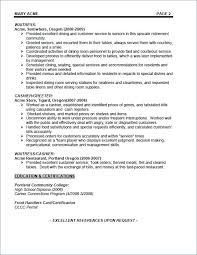 waitress sample resume waiter resume objective food service waitress samples tips for job