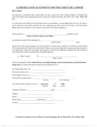 Consent Form Mesmerizing Medical Treatment Authorization And Consent Form Template To For Of