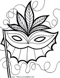 Small Picture Mardi Gras Coloring Pages Pictures Imagixs For Carnival Mask