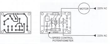 ac motor speed controller circuit printed circuit board layout of the motor speed controller