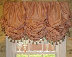 c silk gathered balloon shade with fringe lined and interlined workroom camille moore