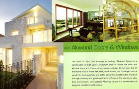 wooden design aluminum doors and windows