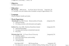 First Resume Resume Work Experience Examples First No Vesochieuxo 56
