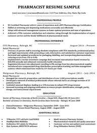 Tips For Resume Format Resume Format For Pharmacist