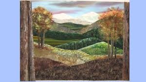 Painted & Stitched Landscape Art Quilt - YouTube &  Adamdwight.com