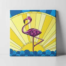 charles the pink flamingo canvas print