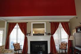 Maroon Curtains For Living Room Decorating Ideas Casual Window Accessories Design Ideas With