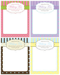 Wishes For Baby Template Free Baby Shower Wishing Tree Cards From A Party Studio Catch My Party