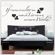 Bedroom Wall Quotes Beauteous Bedroom Wall Stickers Quotes Palesten