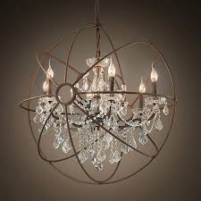 sensational beautiful nifty chandelier globes crystal orb very popular today large metal and crystal chandelier