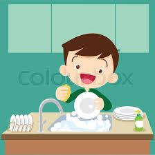 boy washing dishes clipart. Plain Clipart Cute Boy Doing DishesTeenage Washing Dishes Vector Inside Boy Washing Dishes Clipart D