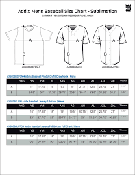 By The Way Clothing Size Chart Sizing Addix Custom Team Gear
