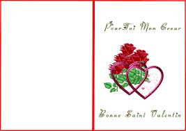 Carte De St Valentin Carte Saint Valentin