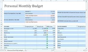 Personal Monthly Budget Template Bill Spreadsheet Free Excel ...