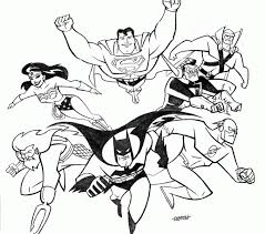 Small Picture Justice league coloring page printable justice league coloring