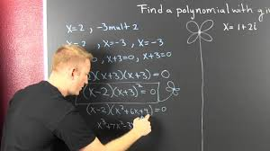 form a polynomial whose real zeros and degree are given find a polynomial of least degree with given zeros complex youtube