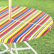 outdoor tablecloth with umbrella hole canada