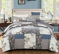 farmhouse quilt bedding. Brilliant Quilt DaDa Bedding Patchwork Bedspread Set  Cotton Quiet Country Farmhouse  Coverlet Quilted Warm Multi Colorful For Quilt U