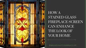 how a stained glass fireplace screen can enhance the living room of your kansas city home