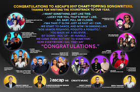 Ascap Songwriters Defined The Sound Of 2017