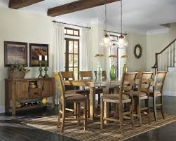 extendable dining room table by signature design by ashley. signature design by ashley krinden rustic rectangular counter extension table - wayside furniture pub extendable dining room