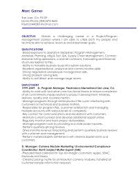 Resume Objective Example Resume Template For Engineering Position