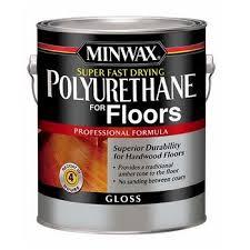 super fast drying polyurethane for floors gloss gallon