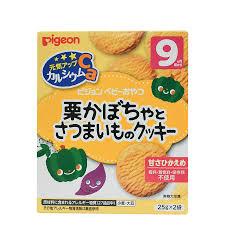 Bánh ăn dặm vị bí ngô & khoai lang, Pigeon, 9 tháng – Babycorner Shop