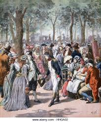 french women th century stock photos french women th century 18th century french fashions remembered a fashionable scene in the park men and women