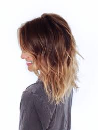Ombre Hair Brown To Blonde Medium Length